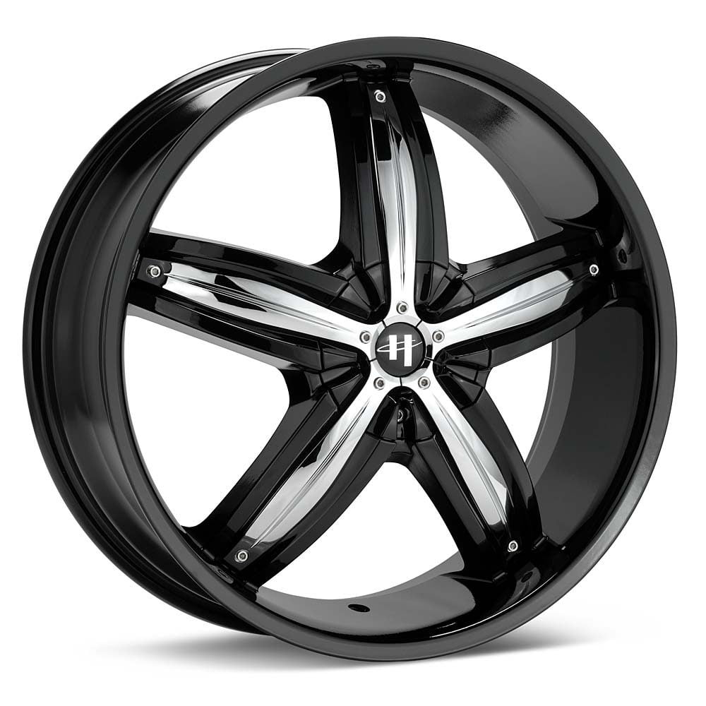 Helo HE844 Gloss Black Wheel with Chrome Accents